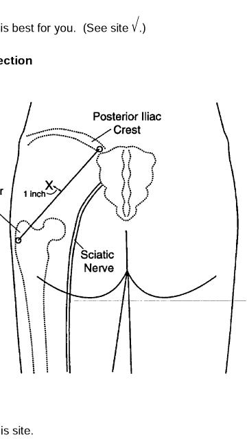 IM injection/needle size
