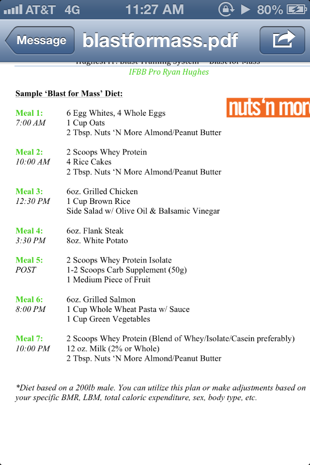 lean bulk diet plan pdf