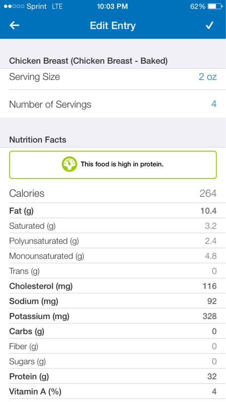 Are These Macros For 8 Oz Of BAKED Chicken Breast Correct?