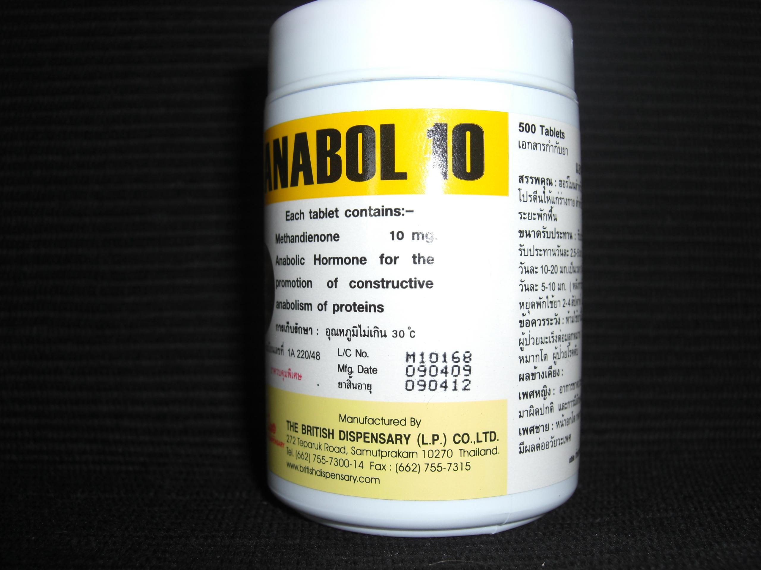 Anabol 10mg British Dispensary