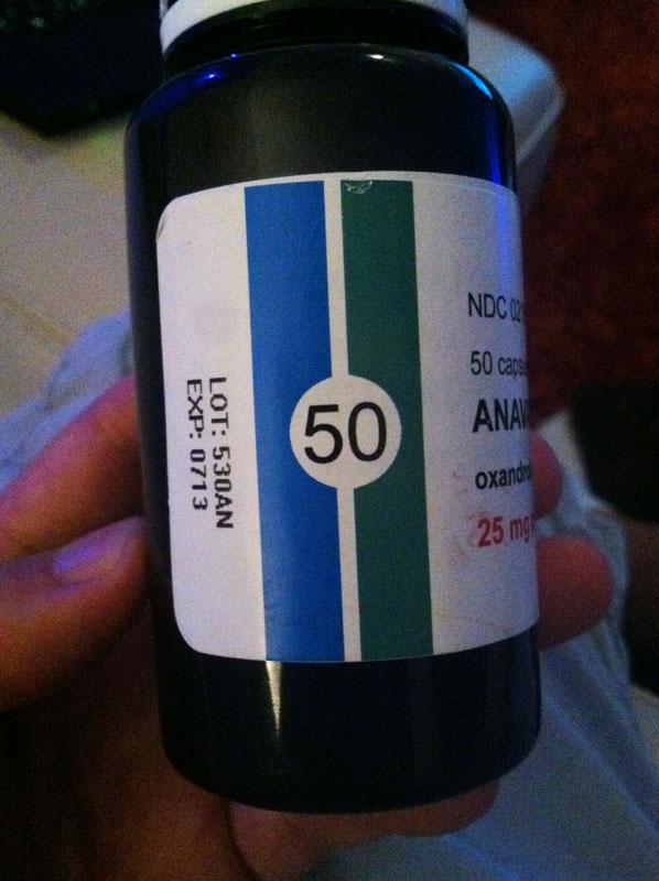 Strange Anavar 25mg in 300+mg capsules