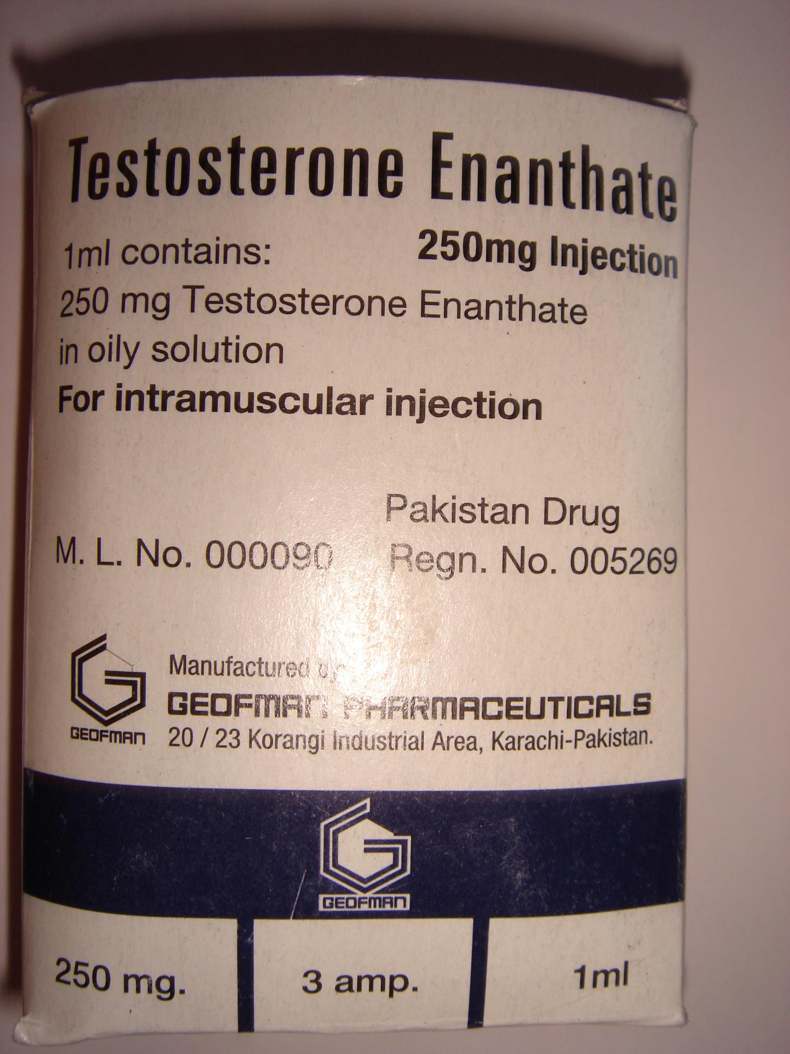 Testosterone Enanthate - Karachi Pakistan